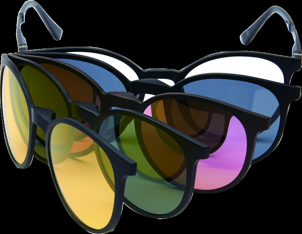 akiniai su magnetiniais klipsais
